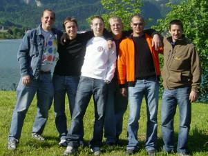 Gruppenbild vom Ausflug zum Raften 2005